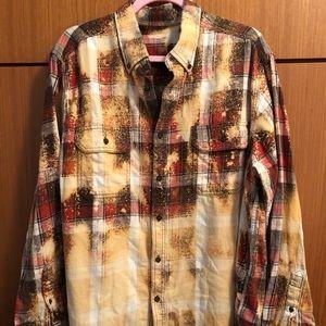 Vintage Flannel XL Plaid Button Down Shirt